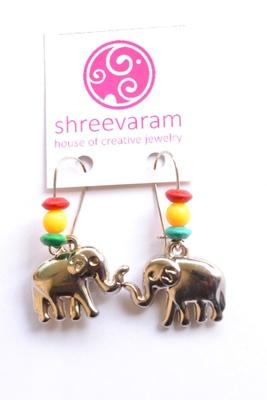 """"""" Haathi Mera Saathi """" Elephant earrings"""