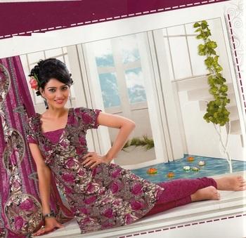 Dress material crepe designer prints unstitched salwar kameez suit d.no AP815