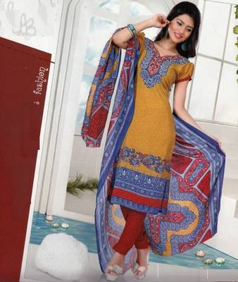 Dress material crepe designer prints unstitched salwar kameez suit d.no AP822