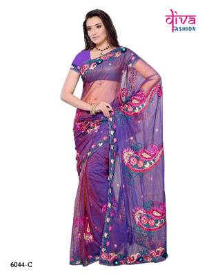 Bollywood Style Party Wear Designer Saree made from NET