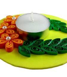Buy Hand Made paper quilling floating Diwali Diya - Enrivonment Friendly diwali-decoration online