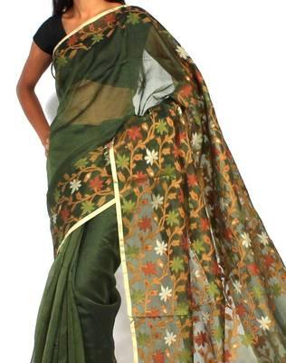 Organza silk banarasi saree