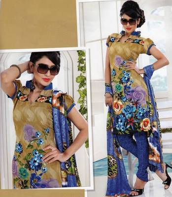 Dress material crepe designer prints unstitched salwar kameez suit d.no AP805
