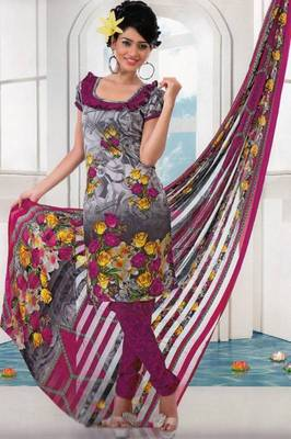 Dress material crepe designer prints unstitched salwar kameez suit d.no AP806