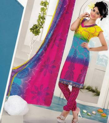 Dress material crepe designer prints unstitched salwar kameez suit d.no AP807