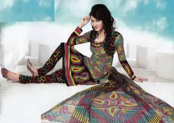Dress material crepe designer prints unstitched salwar kameez suit d.no NT1501