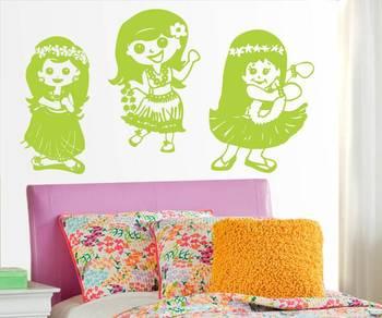 la la la le o  dolls wall art silhouette