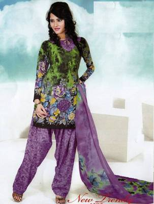 Dress material crepe designer prints unstitched salwar kameez suit d.no NT1502
