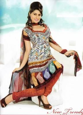 Dress material crepe designer prints unstitched salwar kameez suit d.no NT1503