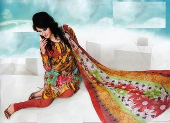 Dress material crepe designer prints unstitched salwar kameez suit d.no NT1511