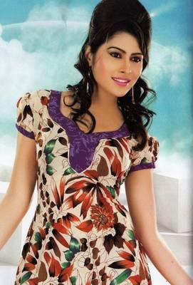 Dress material crepe designer prints unstitched salwar kameez suit d.no NT1512