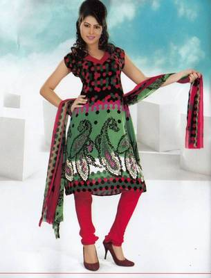 Dress material crepe designer prints unstitched salwar kameez suit d.no NT1510