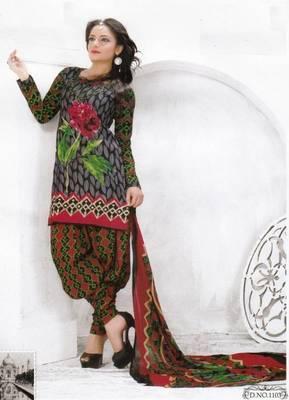 Cotton dress material unstitched salwar suit with chiffon dupatta d.no pk1103
