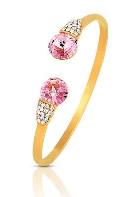 Just Women Sparkle Bracelet with Pink and White Dazzling Swarovski Crystal Element.