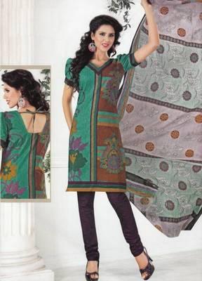 Dress material cotton designer prints unstitched salwar kameez suit d.no 1221