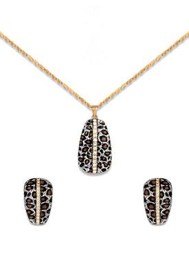 Just Women Trendy Animal Printed Swarovski Crystal Set
