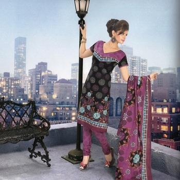 Dress material cotton designer prints unstitched salwar kameez suit d.no 9017