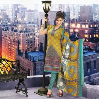 Dress material cotton designer prints unstitched salwar kameez suit d.no 9018