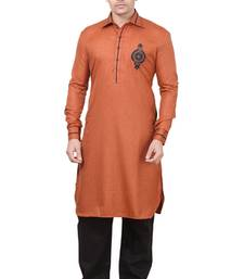 Buy Rust Pathani Suits eid-mens-wear online