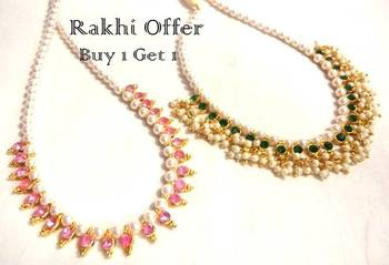Special offer buy 1 get 1 free pearl necklace