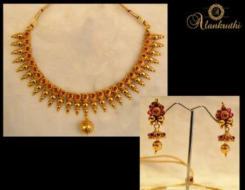 New Temple Jewellery Necklace Set 3