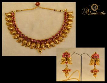 New Temple Jewellery Necklace Set 6