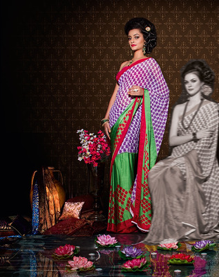 Party Wear Designer Printed Saree Dyna783a