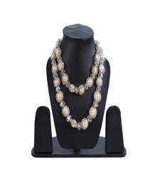Buy Double Layer Pearl Golden Necklace Necklace online