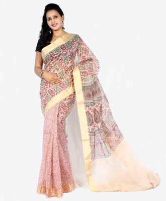 Oraganza cotton fancy banarasi  Half Half saree
