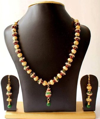 GORGEOUS ROYAL MEENAWORK NECKLACE SET