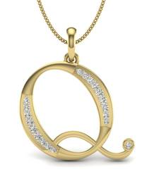 Buy Alphabet Q Swarovski Zirconia Sterling Silver Pendant Pendant online