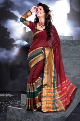 ISHIN Cotton Multicolor Sarees Hansini