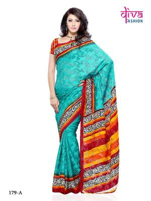 Rekha Style Designer Party/Office wear Saree made from Brasso by Diva Fashion, Surat
