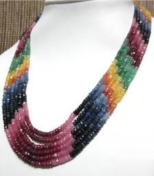 Buy Precious Multi (Rainbow) gemstone-necklace online