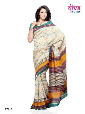 Fashionable and Stylist Designer Saree made from Jacquard by Diva Fashion, Surat