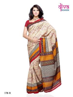 Super Stylist and Fancy Designer Saree made from Jacquard Fabric by Diva Fashion, Surat