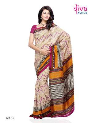 Fancy Designer Saree made from Jacquard by Diva Fashion, Surat