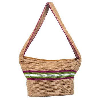 Solitary Crochet Shoulder Handbag | Beige