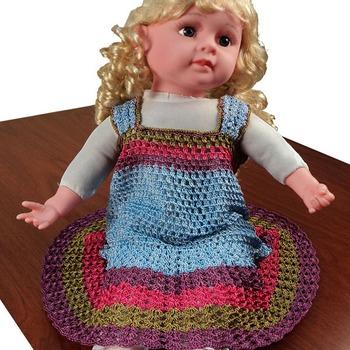 Princess Frilly Crochet Frock | 0-12 months | Light Blue