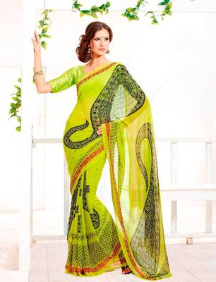 Elegant Carsa Saree with Jacquard Blouse Designer Print With Blouse Piece D.No 6007A