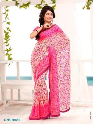 Elegant Carsa Saree Designer Print With Blouse Piece D.No 6012B