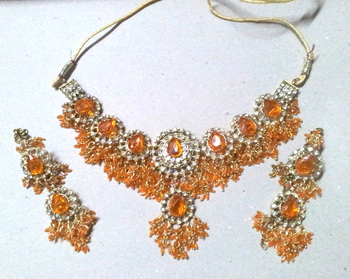 Light Orange Jhaalar Set