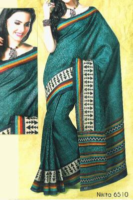 Fancy Cotton Saree Sari - Printed Saree - With blouse - 902629 6510