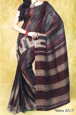 Fancy Cotton Saree Sari - Printed Saree - With blouse - 902629 6517