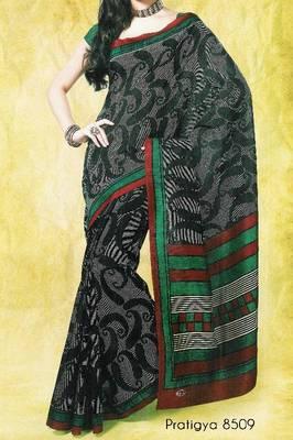 Fancy Cotton Saree Sari - Printed Saree - With blouse - 902630 8509
