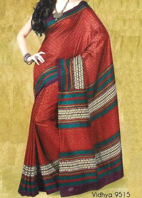 Fancy Cotton Saree Sari - Printed Saree - With blouse - 902631 9515
