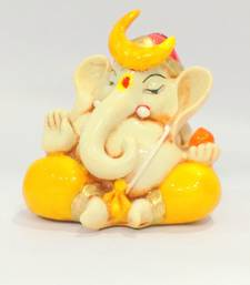Buy Bal chandra Ganesha idol Resin Material Multicolor religious-item online