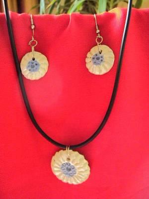 Designer texture glazed ceramics jewellery