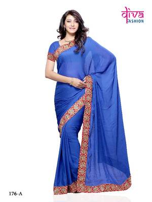 Mind Blowing Casual / Party Wear Chiffon Saree from Diva Fashion