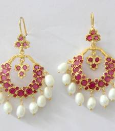 Buy BEAUTIFUL STONE STUDDED CHAND BALI stud online